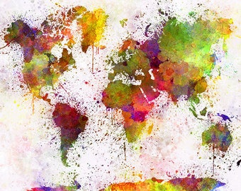 PLACEMAT semi-rigid ORIGINAL AESTHETIC WASHABLE and durable - world map Art 6.