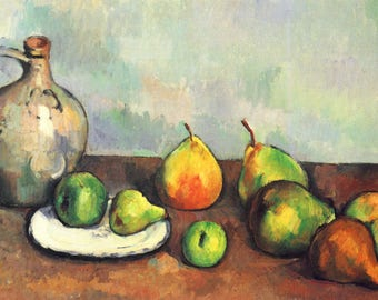 SET of TABLE semi-rigid ORIGINAL AESTHETIC WASHABLE and durable / Cézanne / pitcher and a fruit / classic.