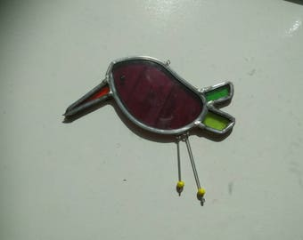 little bird of stained glass