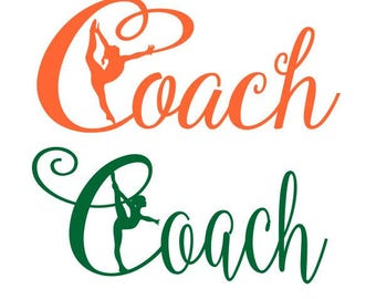 Gymnastic Coach Coach Cuttable Design SVG PNG DXF & eps Designs Cameo File Silhouette