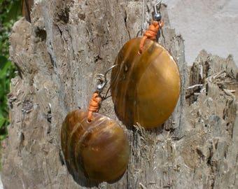 Earrings Pearl Orange