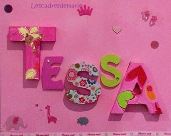 Baby room decor - personalized birthday gift