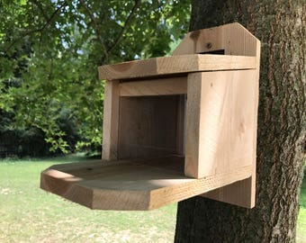 Squirrel feeder Rough Sawn Cedar Handmade