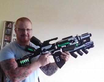 nurf gun repainted and made into a plasma gun