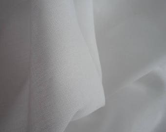 Fabric cotton/polyester sheer white 80 * 140 cm
