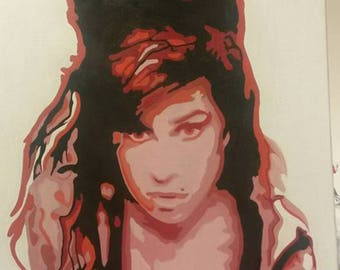 Amy Winehouse painting #2