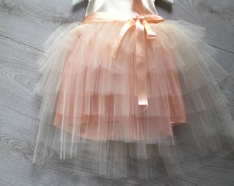 Satin and tulle party dress