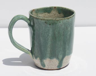 Green and White Mug