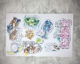 Harry Potter and the Goblet of Fire Lettering Flash Sheet