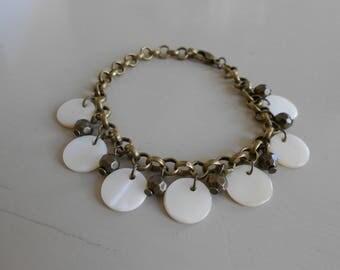 Bracelet • JOY • bronze / white