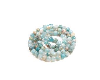 hemimorphite beads 10 / calamine natural 4mm LBP00372