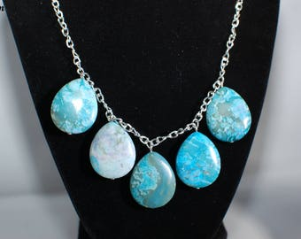 Tear Drop Turquoise Jasper Jewelry Set