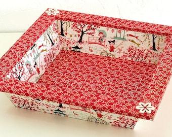 """Japanese garden"" wooden tray"
