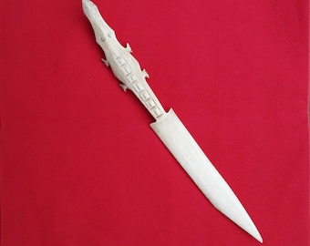 Ivory Crocodile Letter Opener Knife