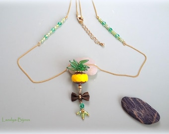 """Tropical necklace """"Pineapple Chic"""""""
