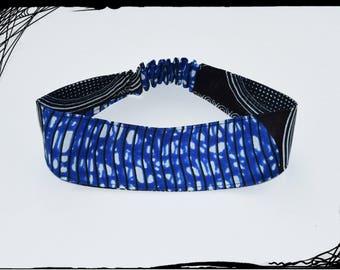 """Reversible elastic headband in """"sea waves"""" wax"""
