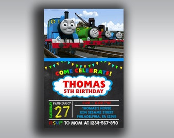 Thomas The Train Birthday Invitations, Thomas The Train Birthday, Thomas The Train Invitation, Thomas The Train Partythomas the train,