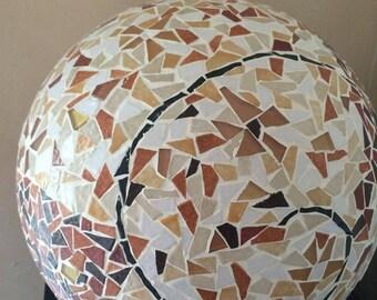 Briare enamel with black spiral mosaic ball