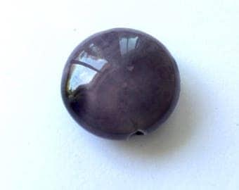 Perle Céramique round and flat shape lens 23 x 13 mm (R20)
