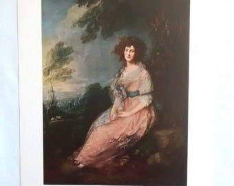 Vintage Thomas Gainsborough Mrs. Richard Brinsley Sheridan Art Print, Romanticism