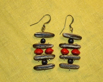 Staggered tribal earrings