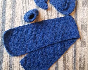 Set Hat scarf baby booties newborn