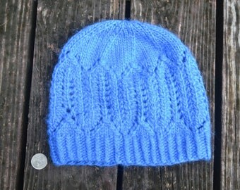 Blue Slouchy Winter Hat