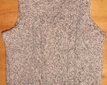 Heather Brown tank 4t boy sleeveless sweater