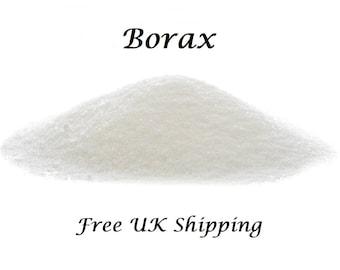 Borax, FREE UK Shipping,  Perfect for Slime, 6 Sizes. Sodium Tetraborate Decahydrate. 20 Mule Team Borax