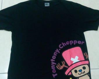 One Piece Tony Tony Chopper Black T Shirt Luffy