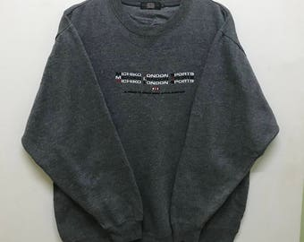 Rare!!! Michiko London Sweatshirt Pullover Spellout Embroidered
