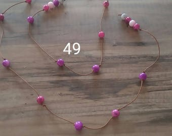 """Lariat long necklace """"lilac"""""""