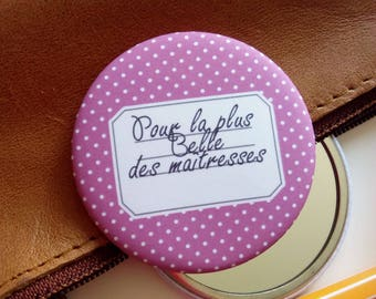 """""""For the most beautiful mistresses"""" 56mm Pocket mirror"""