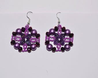 Bright purple earrings