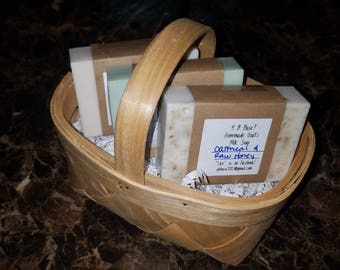 Homemade Goat's Milk Soaps Gift Basket