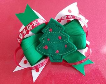 Christmas Tree Bow Etsy - Christmas Tree Hair Bows