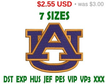 Sale 15% Auburn Tigers embroidery design logo - Instant Download machine embroidery pattern