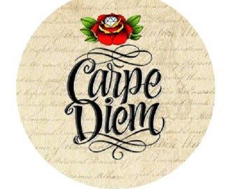 "pretty cabochon ""carpe diem"", 23mm"