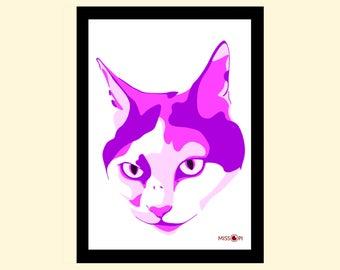 Anniversary Gift, Pet Portrait, Gift, Digital Print, Animal Print, Pet Art, Custom Art, Cat Art, Dog Print, Artwork, Digital Art