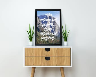 Printable Take Nothing But Pictures Art