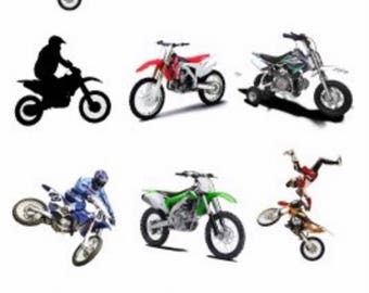 MX Motocross Bike Motor Crossing Temporary Tattoo Sticker. Party Supplies Bunting Lolly Loot Bags