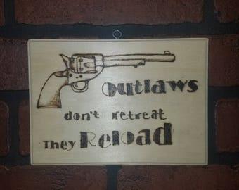 Outlaws Plaque