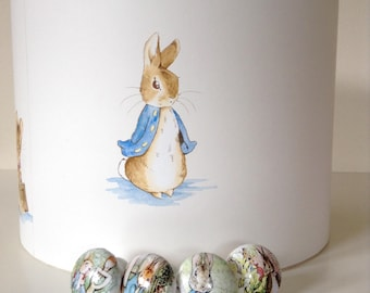 Peter Rabbit Nursery Lampshade Peter Rabbit Lampshade Beatrix Potter Lampshade Handmade Baby Shower Gift Nursery Decor New Mum Gift