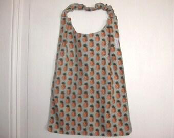 Napkin customizable sleeves with elastic pineapple motif