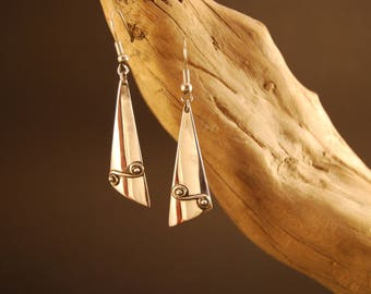 "Earrings original and handcrafted in Silver ""the wave"""