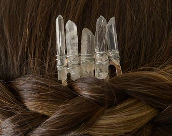White Quartz Hair Comb