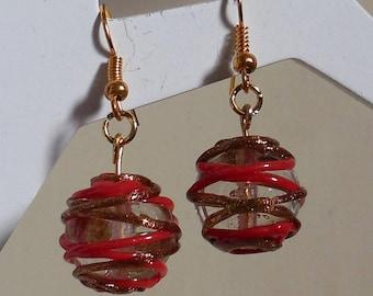 A pair of earrings Lampwork Glass Bead