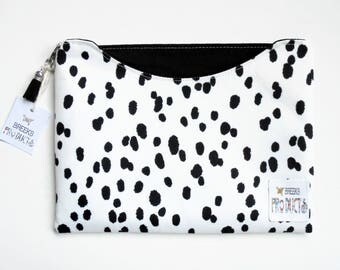 Made to measure iPad sleeve, Dalmatian print, Samsung Galaxy note 10.1, ipad mini 4/3/2