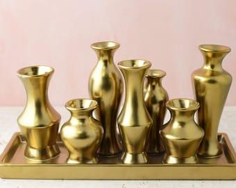 Gold Vase Set