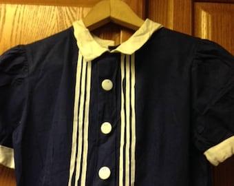 Girls sailor dress hand made